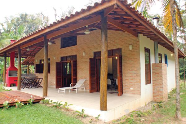Casa r stica e colonial rac arquitetura - Exteriores de casas rusticas ...